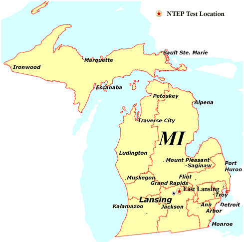 Michigan State Map Michigan state map